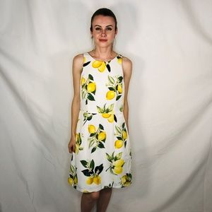 Adrianna Papell fresh Lemon A Line Yellow Dress 10